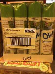 12 x Oust Odour Eliminator 300ml Air Freshener Garden Fresh Clean Scent Outdoor
