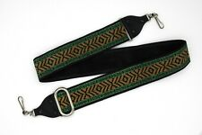 Adjustable shoulder/neck strap; Black, Green & Gold; Free Shipping