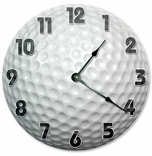 GOLF BALL CLOCK Large 10.5 inch Round Wall Clock GOLFER, GOLFING SPORT 2122