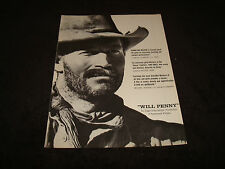 WILL PENNY 1968 Oscar ad with Charlton Heston, Donald Pleasence, Bruce Dern
