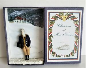 CHRISTMAS AT MOUNT VERNON GEORGE WASHINGTON MINIATURE DOLL BY ROSEMARIE SNYDER
