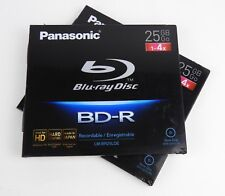 2x New Panasonic Blu-ray BD-R Disc for PC Data, 25GB, 1-4x Speed HD