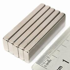5Pcs/Set 40x10x4mm N52 Strong Blocks Bar Fridge Rare Earth Neodymium Magnets OZP