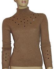 Geometrische Damen-Pullover mit Rollkragen