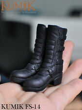1/6 KUMIK FS-14 Female Shoes Boots Black For 12'' Figure Body Toys Accessories