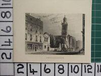 1851 ANTIQUE LONDON PRINT ~ ST BOTOLPH BISHOPSGATE