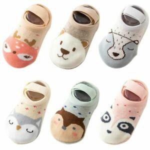Isbasic Newborn Infant Baby Boys Girls Warm Cozy Cotton Winter Booties Toddler Non-Slip Soft Sole Slippers/Socks Crib Shoes