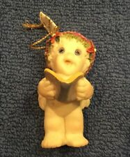 Dreamsicle Baby Ornament / Cherub Reading Book / Standing