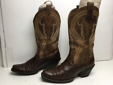 VTG WOMENS ARIAT ATS SQUARE TOE COWBOY BROWN BOOTS SIZE 9 B