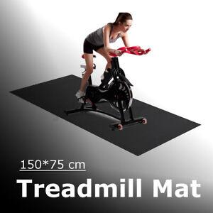 150CM Treadmill Mat Yoga Mat Exercise Gym Equipment Go Bike Protect  Floor UK