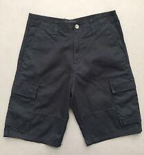 Men's HURLEY Flat Front Casual/Walking Cargo Shorts, Dark Blue  Size 32 EUC