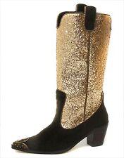 New Colin Stuart -Victoria Secret  cowgirl western Glitter Boots womens sz 6.5