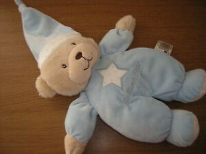 MOTHERCARE STAR BLUE BEDTIME BEAR  SOFT TOY