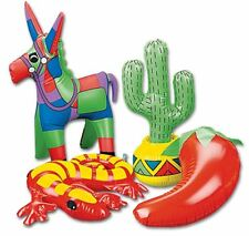 INFLATABLE MEXICAN FIESTA DECORATIONS DONKEY CHILI GECKO CACTUS MEXICO FUN