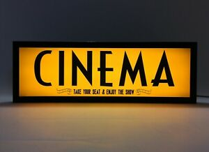 CINEMA - Vintage Style LED Light Signs, Light Box - USB Powered (40)