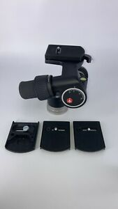 MANFROTTO 405 GEARED TRIPOD HEAD With (4) Quick-Release Plates