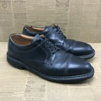Johnston Murphy 48101 Mens Black Leather Dress Work Shoes Lace Up Size 9.5 M