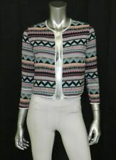 ONE HART NWT Blue/Purple Aztec Print 3/4 Sleeve Open Front Blazer sz XL $69