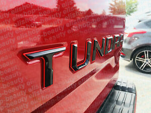 Double Layer Tailgate Insert Letters fits 2014-2021 Toyota Tundra (Black Red)