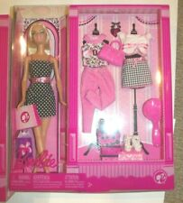 "Barbie Pink Series 2008 Gift Set clothes shoes accessories 12"" Blonde"