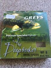 Greys Platinum WF#8 Deepseeker Sink Fly Line Reservoir Trout Fishing BN FREEPOST