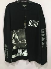 Bare Fox Men's 3XL Top Shirt  Black Sweatshirt XXXL One Color One Nation