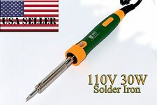 30W 110V Heat Pencil Tip Welding Solder Soldering Iron Kit Electronic Rework USA