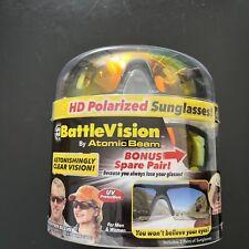 Battle Vision HD Polarized Sunglasses by Atomic Beam, UV Block Sunglasses 2 PACK