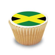 15 x Jamaica / Jamaican Flag Pre Cut Cupcake Toppers Premium Sugar Icing Sheet