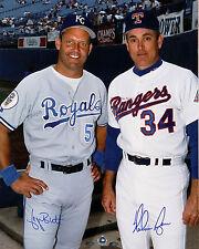 George Brett &  Nolan Ryan  Vintage Signed Autograph reprint 8x10