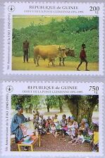 Guinée 1995 1546-47 1303-04 50th Ann FAO FAO Food MNH