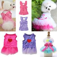 Pet Sling Dress Dog Cat Puppy Spring Summer Bowknot Princess Dress Pet Clothes C