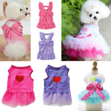 Pet Sling Dress Dog Cat Puppy Spring Summer Bowknot Princess Dress Pet Clothes C