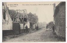 WW1, France, Bully-Grenay, Une Maison Bombardee Postcard, A851
