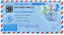 1983 Ballonpost Pro Juventute Aerostato HB-BOZ Olympus Paris Gordon Bennett