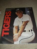 1980 Detroit Tigers  UNscored  Program Tigers Stadium Sparky Anderson Cover