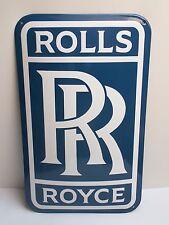 Rolls Royce RR LOGO Emailschild enamel sign 36 x 60 cm RIESIG Emaille Schild