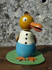 tirelire ancienne canard animal bois peint 60's jouet ancien money box vintage
