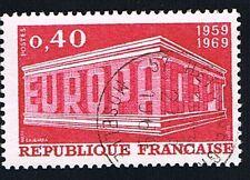 1 FRANCOBOLLO FRANCIA EUROPA CEPT ROSSO CARMINIO 1969 usato