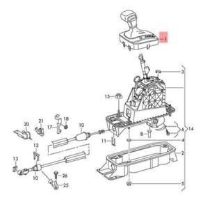 Volkswagen Passat B7 Gear Selector Knob 3C1713203P XRU GENUINE NEW