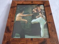 Bruce lee scrapbook rare photos Framed 10by8 mounted wood frame classic scenes 2