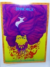 Very Rare Drink Milk Psychedelic Poster 22 X 29 Eric Thono NEW ORIGINAL