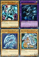 BLUE-EYES WHITE DRAGON Mint 4_Different Artworks CARD SET COMMON 1st LDK2-YUGIOH