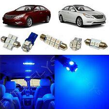 9x Blue LED lights interior package kit for 2011 & Up Hyundai Sonata YS3B