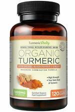 Gelules de Curcuma 100% Bio Extra Fort 710mg avec Vitamine de Gingembre Poivre