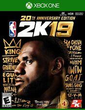 NBA 2K19 20th Anniversary Edition 2019 Xbox One New