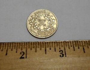 1945 Tunisia 1 Franc Coin
