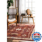 Edith Transitional Tribal Red 7 Ft. X 9 Ft. Area Rug