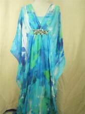Teri Jon by Rickie Freeman Silk Georgette Caftan Gown 4