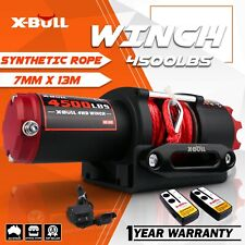 X-BULL 12v 4500lbs/2041kg Electric Car Winch Wireless Remote Steel Cable 4wd ATV